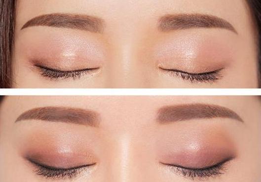 韩式半永久定妆术0半永久(103)0纹眉和绣眉效果图对比
