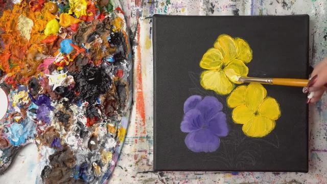 花怎么画彩色