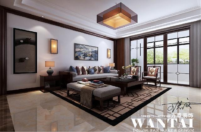 济宁南风花园180平方-新中式风格装修设计方案