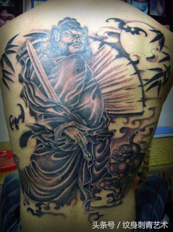 钟馗纹身图片