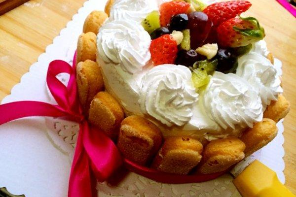 生日蛋糕(6寸)的做法步驟