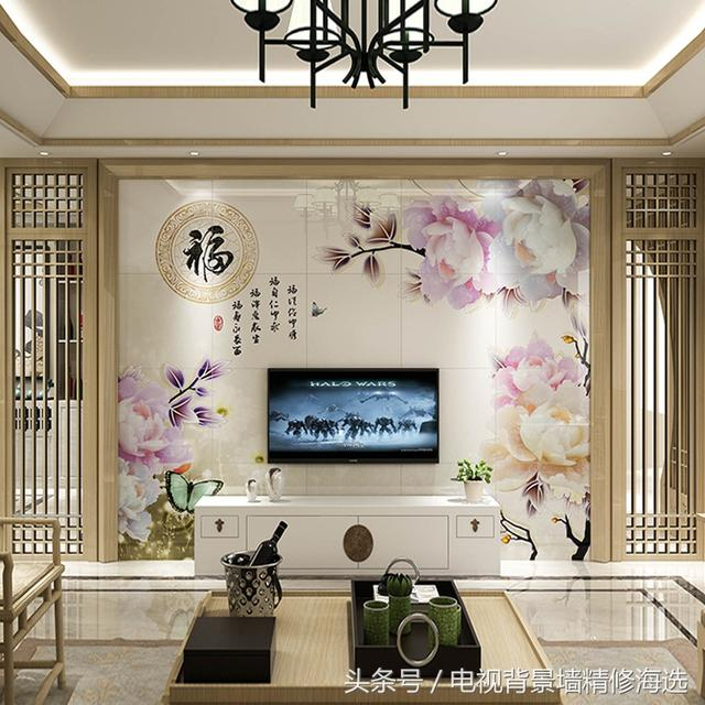 15款热门现代中式风格的电视背景墙,杠杠滴效果