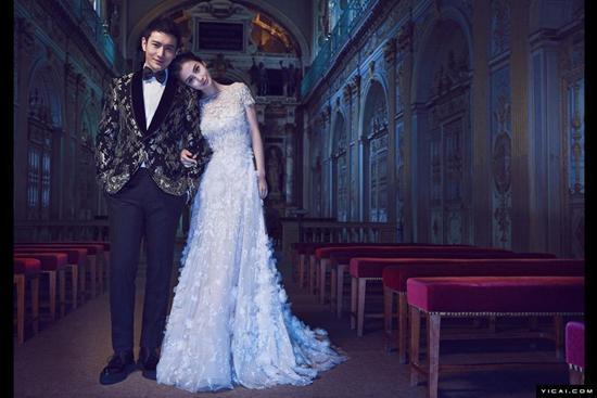Angelababy婚纱照曝光 盘点中日韩女星绝美婚纱造型