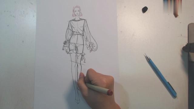 服装款式图画法技法_360个人图书馆