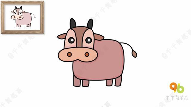 画牛的简笔画图片大全