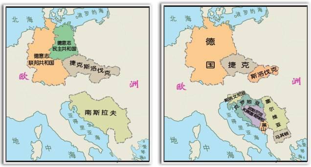 中国&美国、美国&俄罗斯:3国版图和国土面积比较图
