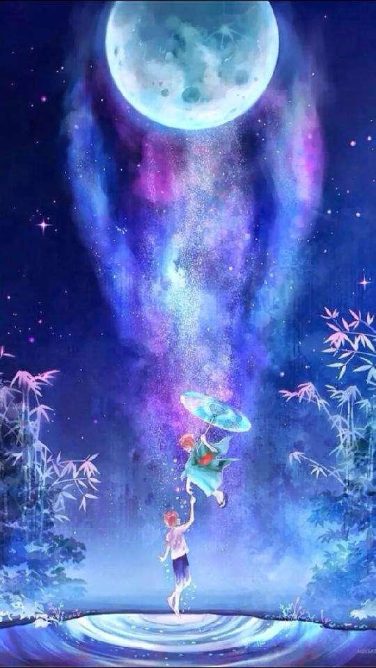 美丽的星空壁纸送给您,夜晚的星空真的很美