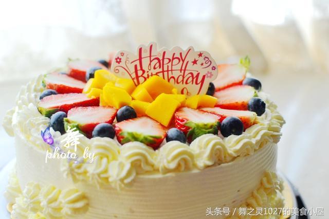 水果吃不完還能做什么?趁著假期動手給家人做一份生日水果蛋糕