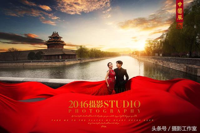 北京拍中国风婚纱摄影工作室【V视觉】天坛中国风
