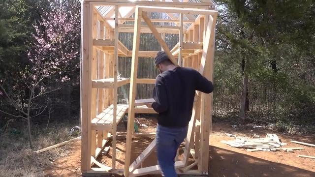 新型砖墙-日光温室大棚(暖棚)结构图-北方温室大棚