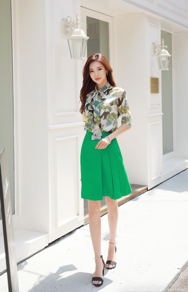 菲勋 2014夏季新品女装 印花假两件雪纺衫中袖上衣 甜美优雅气质