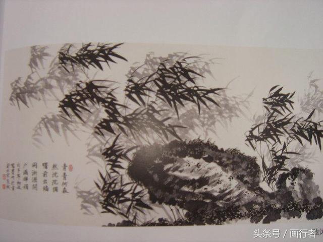 水墨画竹子画法步骤图