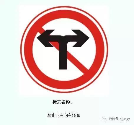 禁止左转、禁止行人通行禁令标志_腾讯网