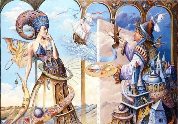 魔幻现实主义 波兰艺术家Setowski油画作品欣赏