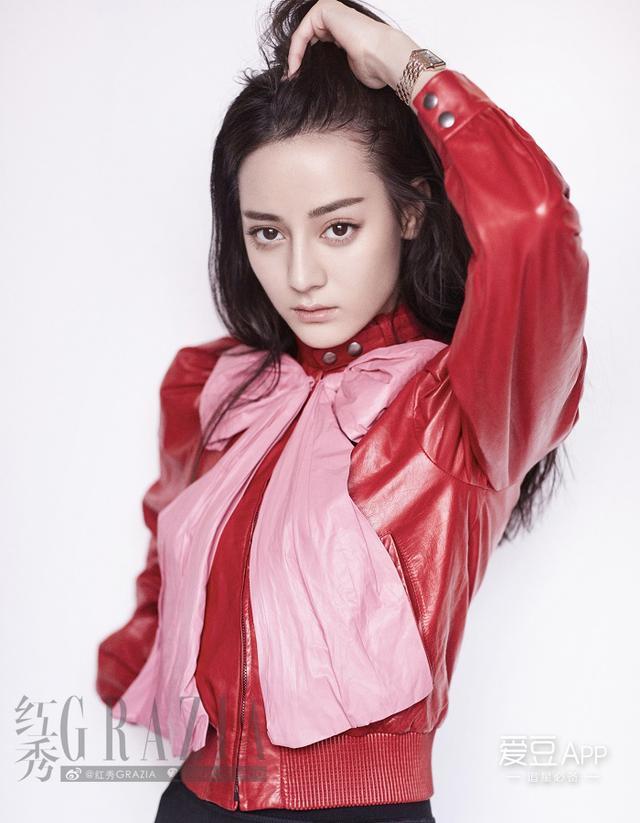 2016《红秀GRAZIA》八月刊封面:迪丽热巴(红秀七周年,花絮比...