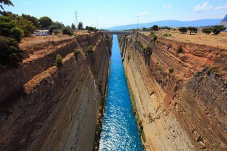 希腊科林斯运河,奇迹之一!_俞昌斌_新浪博客
