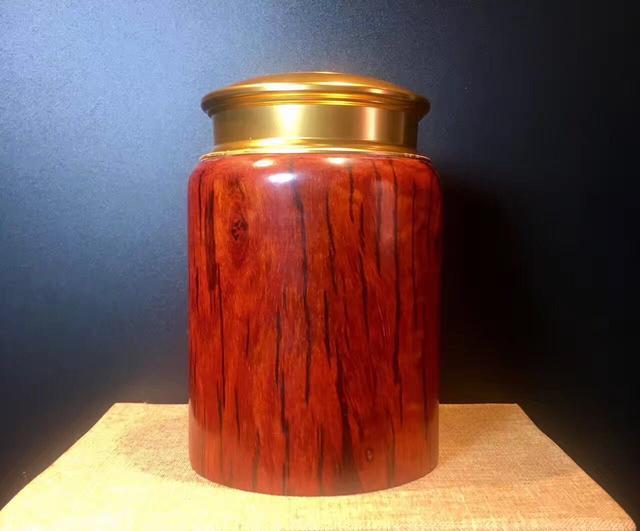 印度小叶紫檀红木围棋罐茶叶罐檀茶叶罐茶叶盒_阿里巴巴