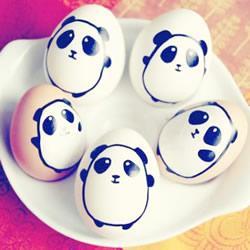 鸡蛋还可以用来这样画画,真是萌萌哒