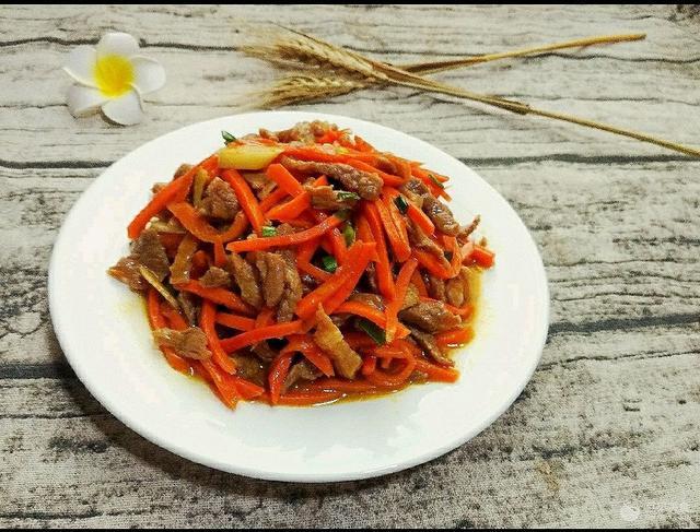 肉炒胡萝卜丝怎么做_肉炒胡萝卜丝的做法_笨丫_豆果美食
