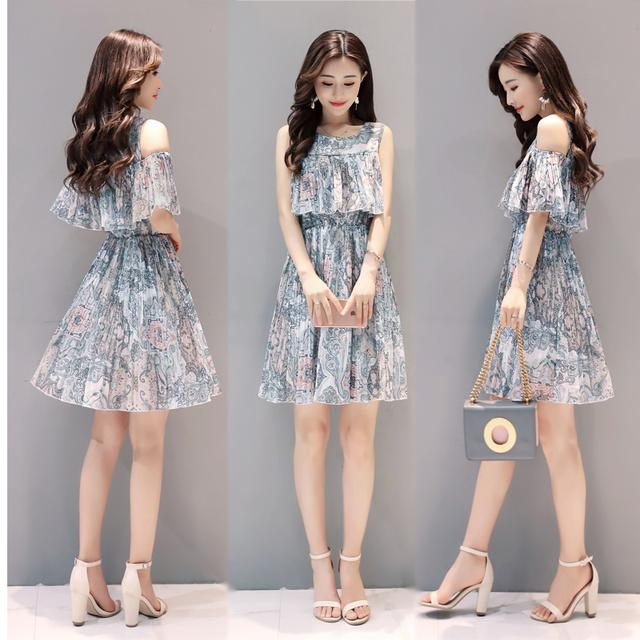 韓版女裝棉麻連衣裙圖片