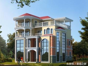 农村经典二层小洋房别墅,绿树环绕,世外桃源
