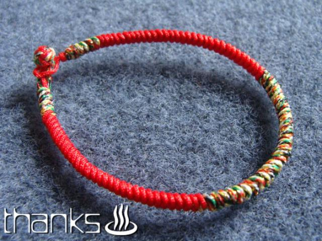 分享很好编的情侣红手绳,本命年手链,很漂亮
