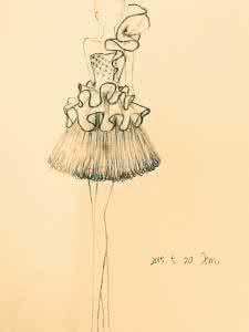 美得让人无法自拔的婚纱素描