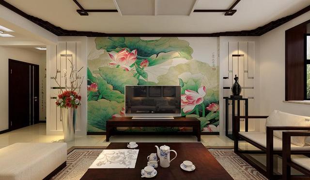 现代风格客厅用墙布装修效果图装修攻略