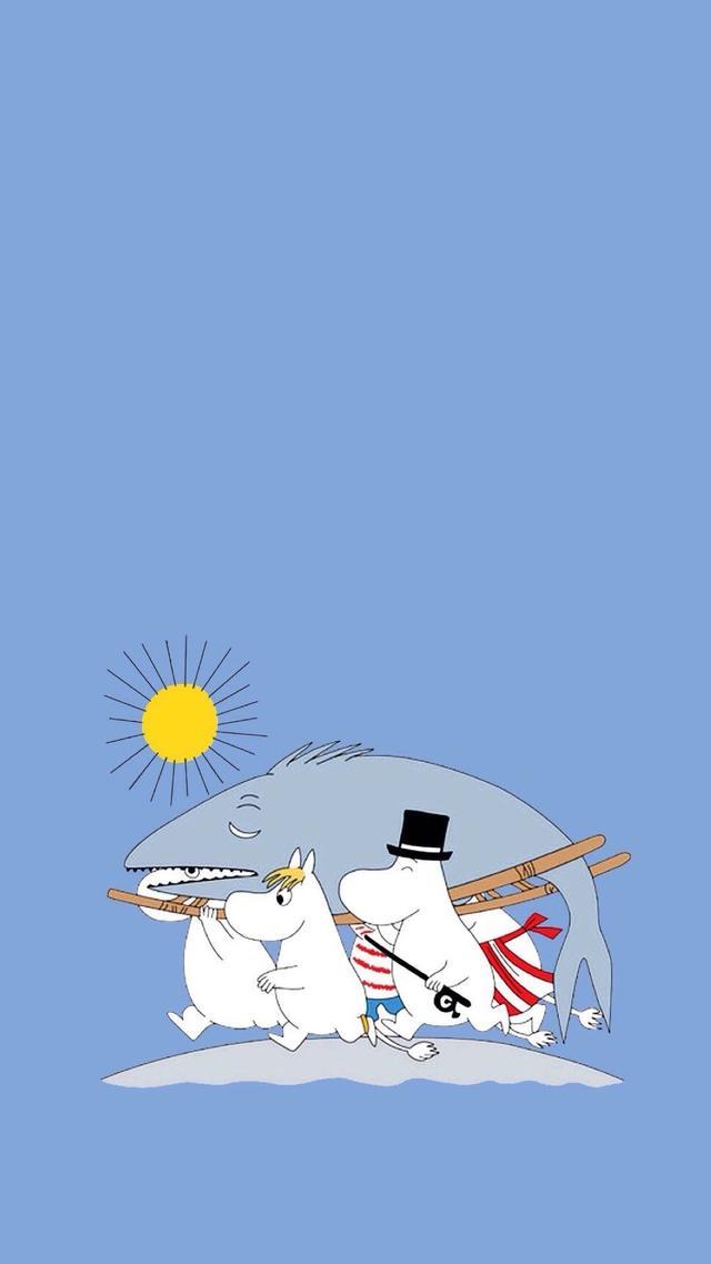 简约卡通壁纸――可爱的小河马