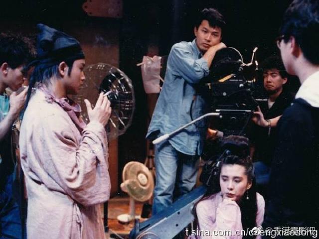 一组张国荣与王祖贤宣传《倩女幽魂》的老照片