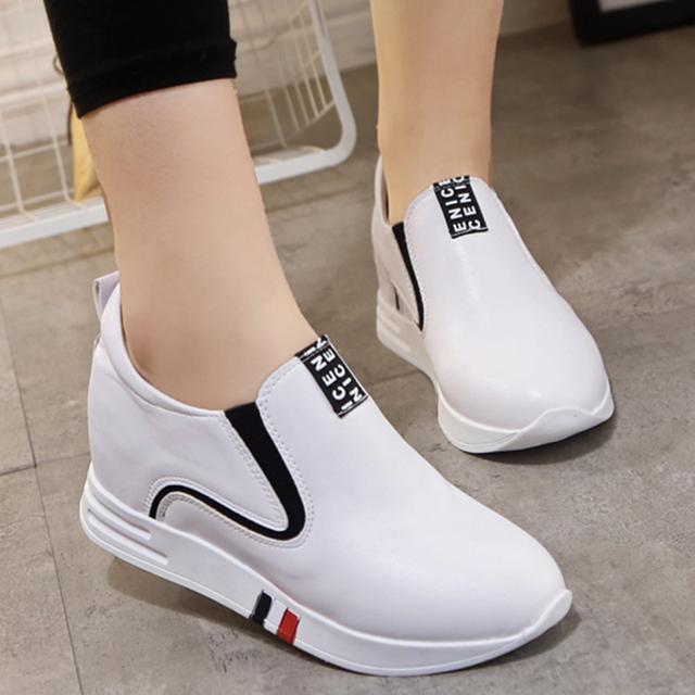 休闲内增高女鞋冬季