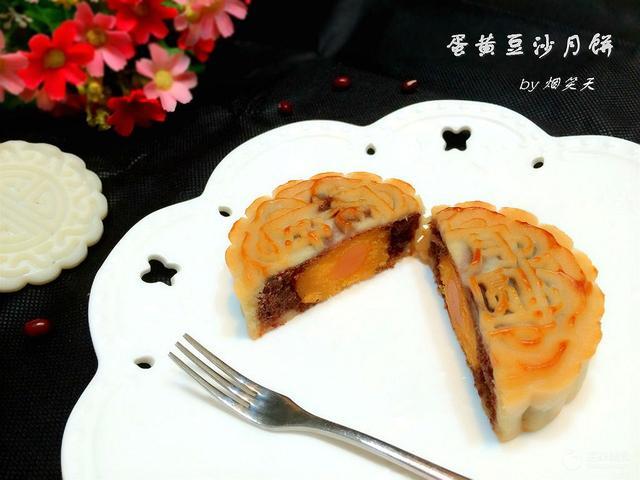 黑豆沙月饼图片