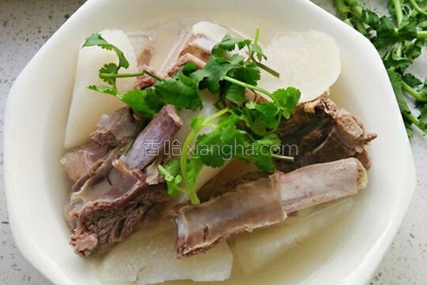 萝卜炖羊排最简单好吃的做法,营养美味,一碗羊排御冬寒