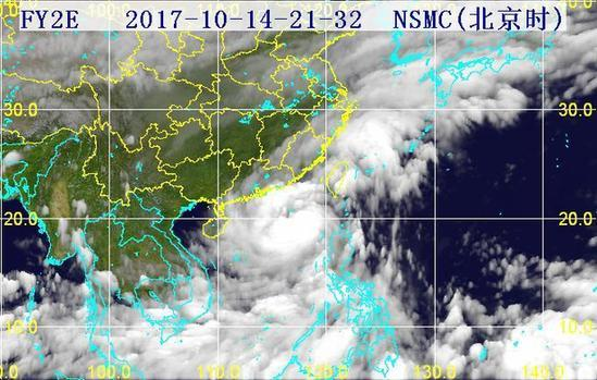 台风山竹卫星云图动图