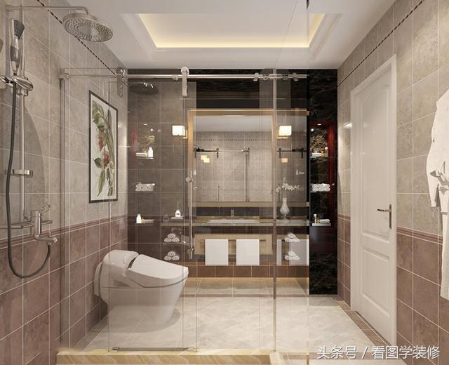 卫生间干湿分离装修效果图 卫生间干湿分离设计图