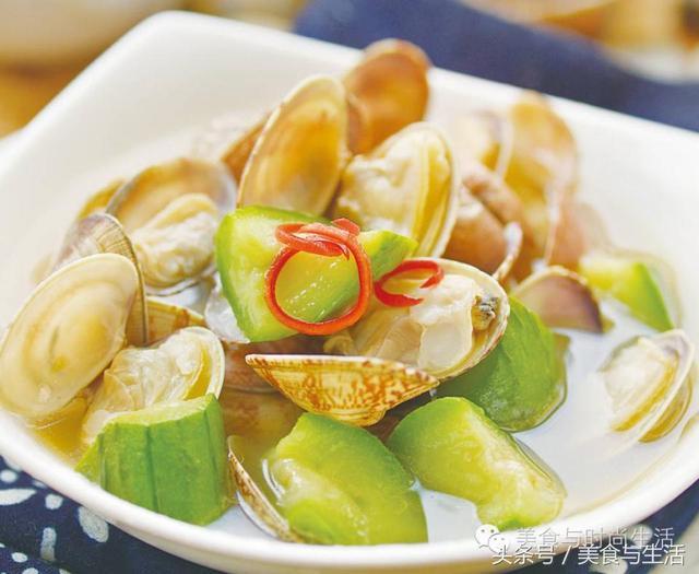蛤蜊肉丝瓜汤 雀巢营养早餐