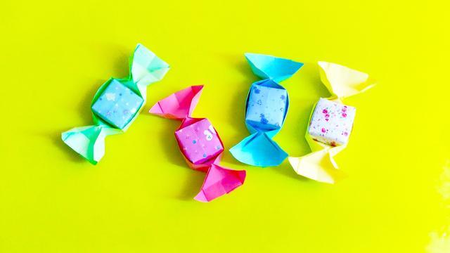 爱剪辑-三角形糖盒折叠视频