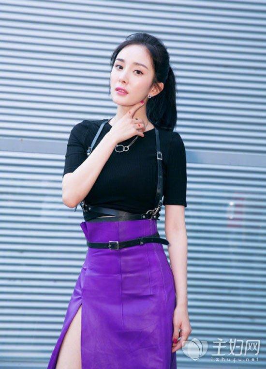 杨幂黑色裙子
