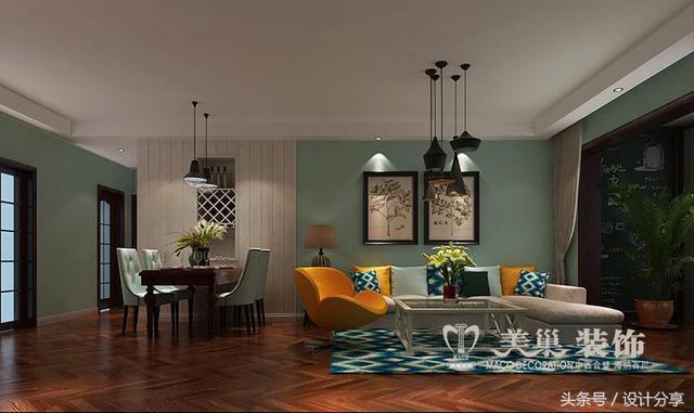 南阳小夫妻装修三室两厅风格清新、舒适让人赏心悦目