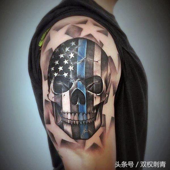 骷髅花臂纹身手稿