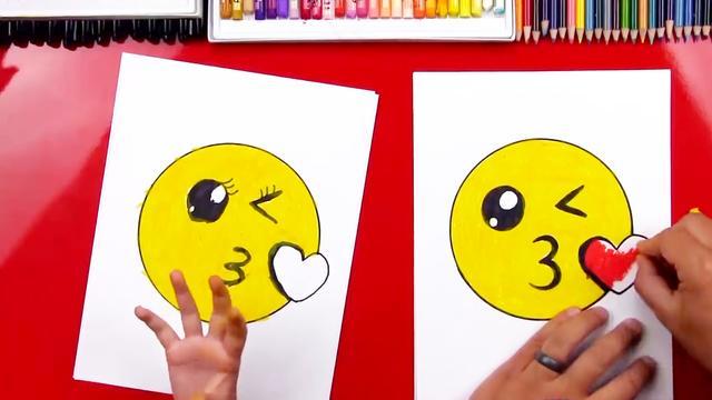 :教你画一幅关于爱情的简笔画!男孩女孩接吻kis... -bilibili
