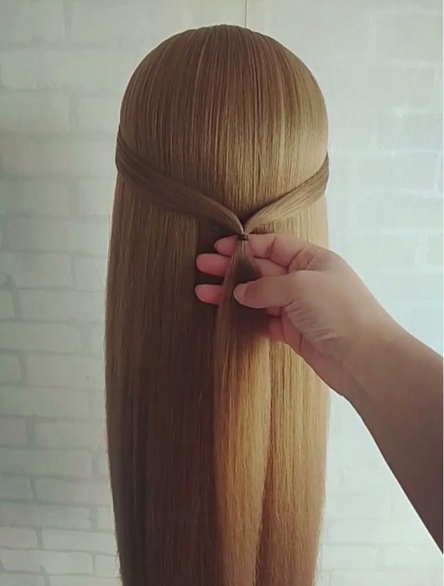 长发披发简易编发发型