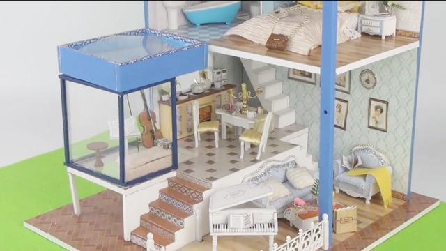 给芭比娃娃做漂亮的迷你房间,做法简单物品齐全,手工diy