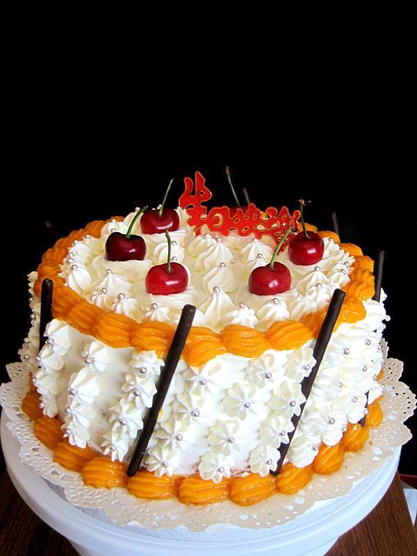 水果生日蛋糕设计素材下载_水果生日蛋糕模板下载_红动手机版