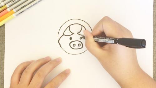 猪怎么画简笔画