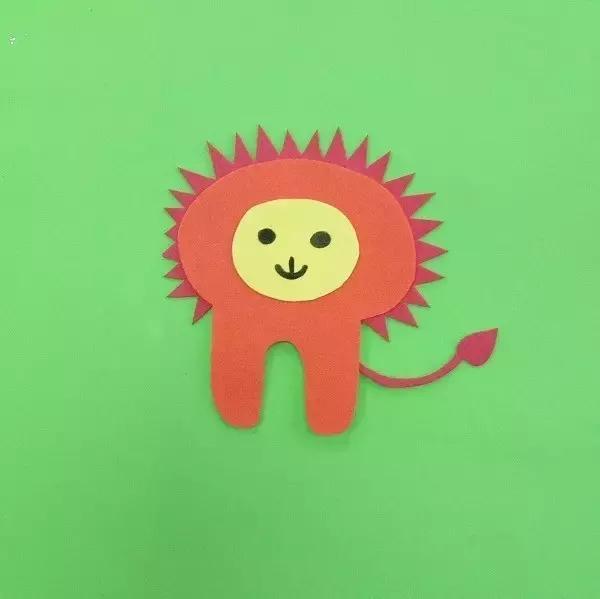卡纸手工制作狮子图片