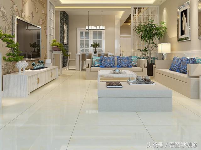 2019米黄地砖配色效果图 四平客厅地砖颜色选择... -众易居装修网
