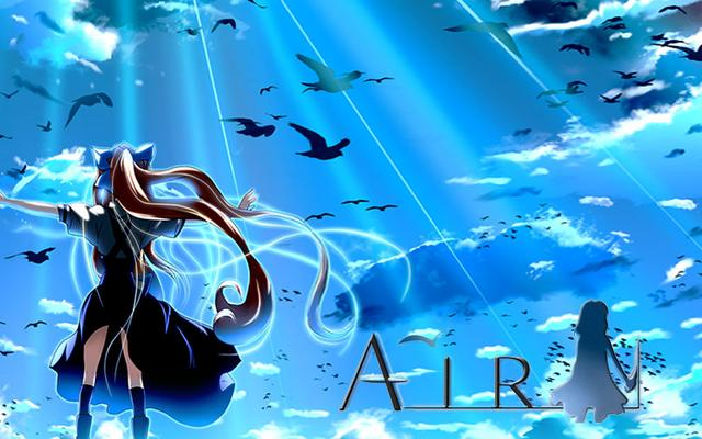动漫AIR高清壁纸/唯美图片!夏天的羽翼&鸟之诗!点开音乐赏图!