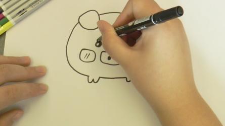可爱的猪怎么画简笔画