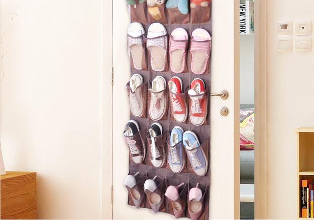 衣柜悬挂式布艺收纳挂袋宿舍收纳袋 悬挂式衣物多层盒储物袋床头